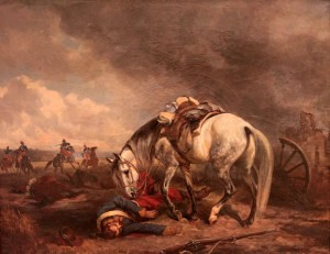 """Horse Over Killed Rider"" by the Polish painter, Juliusz Kossak."