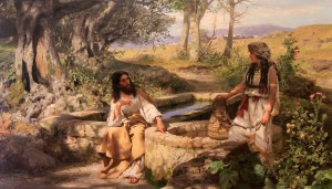 """Christ and the Samaritan Woman"" by Henryk Siemiradzki."