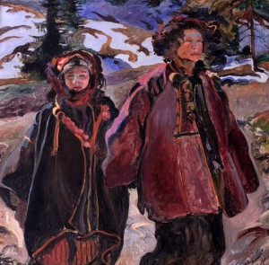 """Hutsul Orphans"" by Polish painter Kazimierz Sichulski."