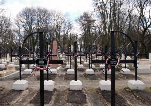 Graves in Lychakivske Cemetery.