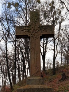 Cross on top of one of the tombs.