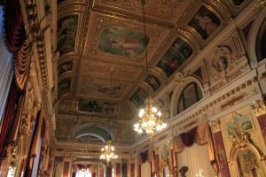 """Inside the """"super"""" room in the Lviv National Academic Theater of Opera and Ballet."""