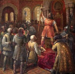 """Coronation of Stephen the Great"" by Boris Nesvedov."