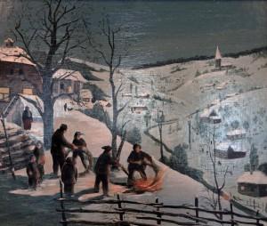 """Rolling the fiery wheels on Christmas night"" by V. Metlyaev."