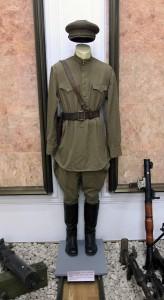 USSR officer's field uniform from 1943 AD.