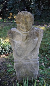 Anthropomorphic funeral stele.