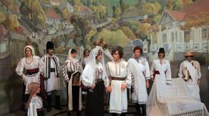 Diorama of a traditional Moldovan wedding.