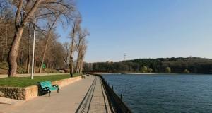 Lake in Valea Morilor park.
