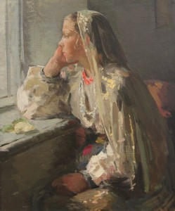 """Girl at the Window"" by Valentina Rusu-Ciobanu (1954-55 AD)."