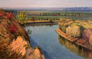 """Dniester at Serpeni"" by Mihail Petric (1984 AD)."