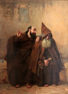 """Monks"" by Russian painter Fiodor Bronnikov (1881 AD)."
