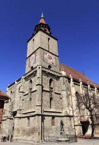 "The Black Church (also known as ""Biserica Neagră"") in Brasov."