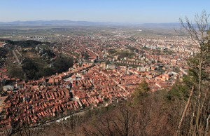 Brasov, seen from the top of Mount Tampa.