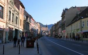 Street in Brasov.