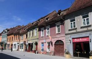 Colorful buildings in Brasov.