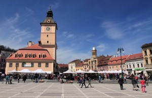 Brasov Council Square on Easter Sunday (for Orthodox Christians, that is).