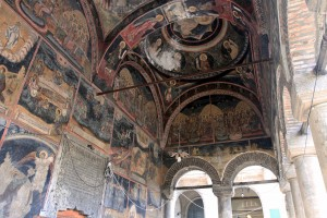 Frescoes on the portico of Kretzulescu Church.