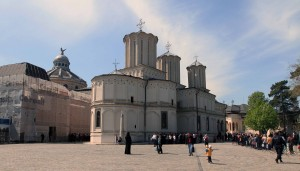 The Romanian Orthodox Patriarchal Cathedral, from the backside (built in 1658 AD).