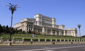 The Palace of Parliament in Bucharest.