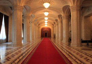 Hall inside the Palace of Parliament.