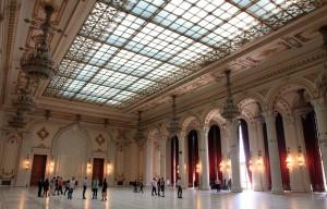 Ballroom inside the Palace of Parliament.