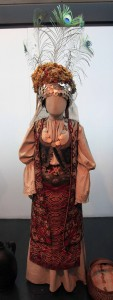Bridal costume with a smiljevac cap, from Serbia (19th-century AD) - on display in the Ethnographic Museum in Belgrade.
