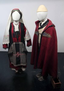 Woman's winter dress from the Sjenica-Pester plateau and a man's dress from Ibarski Kolasin (both 19th-century AD).