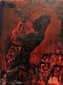 'Horn Player' by Petar Omcikus (1987/98 AD).