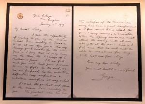 """My Dearest Nicky . . ."" - a letter from Georgie to Nicky, dated January 10, 1917."