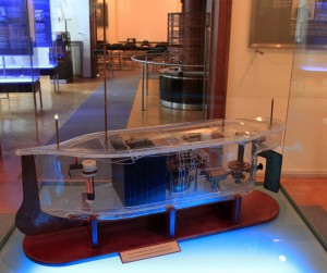 Model of Tesla's remote-controlled boat.