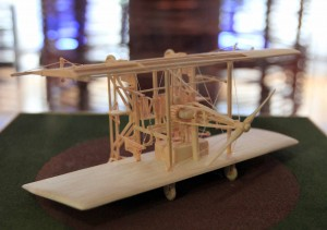 Model of Tesla's plane with vertical takeoff.