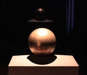 Urn with Nikola Tesla's ashes.