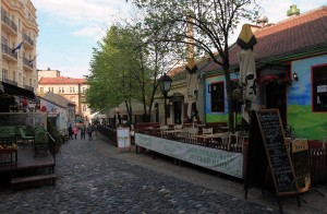 Skadarska Street in the Bohemian Quarter.
