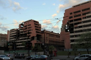 Another building that was bombed by NATO and that is a monument to communist architecture (located on Nemanjina).