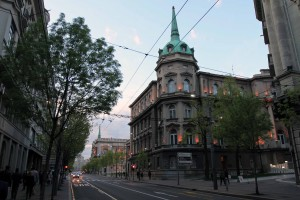President of the Republic of Serbia Building, with its dome spire.