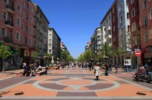 Vitosha Street in Sofia.