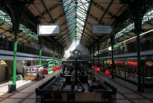 Inside the Central Sofia Market Hall.
