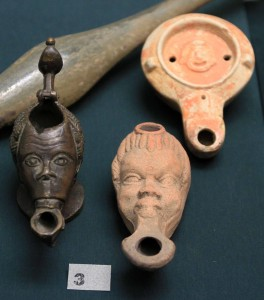 African head shaped lamps (2nd-3rd centuries AD).