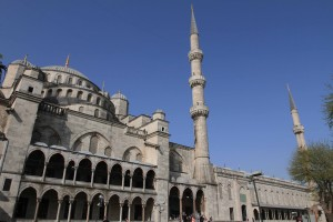 "The Blue Mosque (the actual name is the ""Sultan Ahmed Mosque"")."