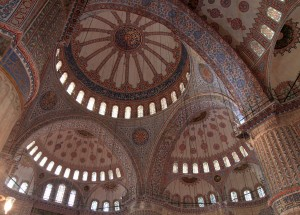 Another view of the interior of the Blue Mosque.