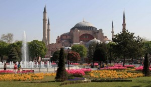 Hagia Sophia seen from Sultanahmet Square.