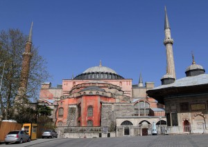 Hagia Sophia, seen from the southeast side.
