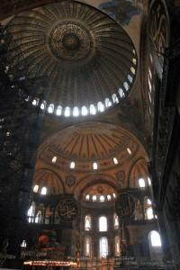 Inside of Hagia Sophia.