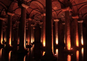 More columns inside the Basilica Cistern.