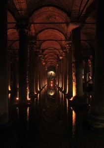 Another view inside the Basilica Cistern.