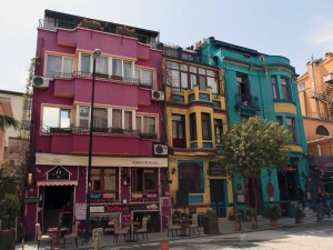 Colorful buildings in Istanbul.