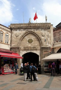 One of the entrances to the Grand Bazaar in Istanbul.