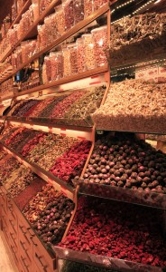 Spices for sale in the grand Bazaar.