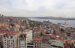 Europe and Asia (across the Bosphorus Strait), seen from Galata Tower.
