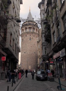 Galata Tower, built in 1348 AD.